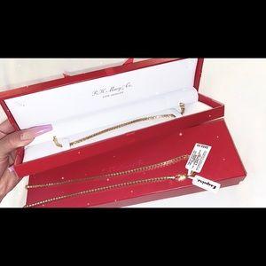 Men's necklace & bracelet from Macy's